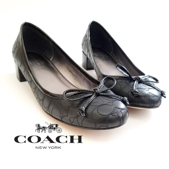 Coach Shoes - Coach Odella Embroidered Logo Ballet Style Pumps